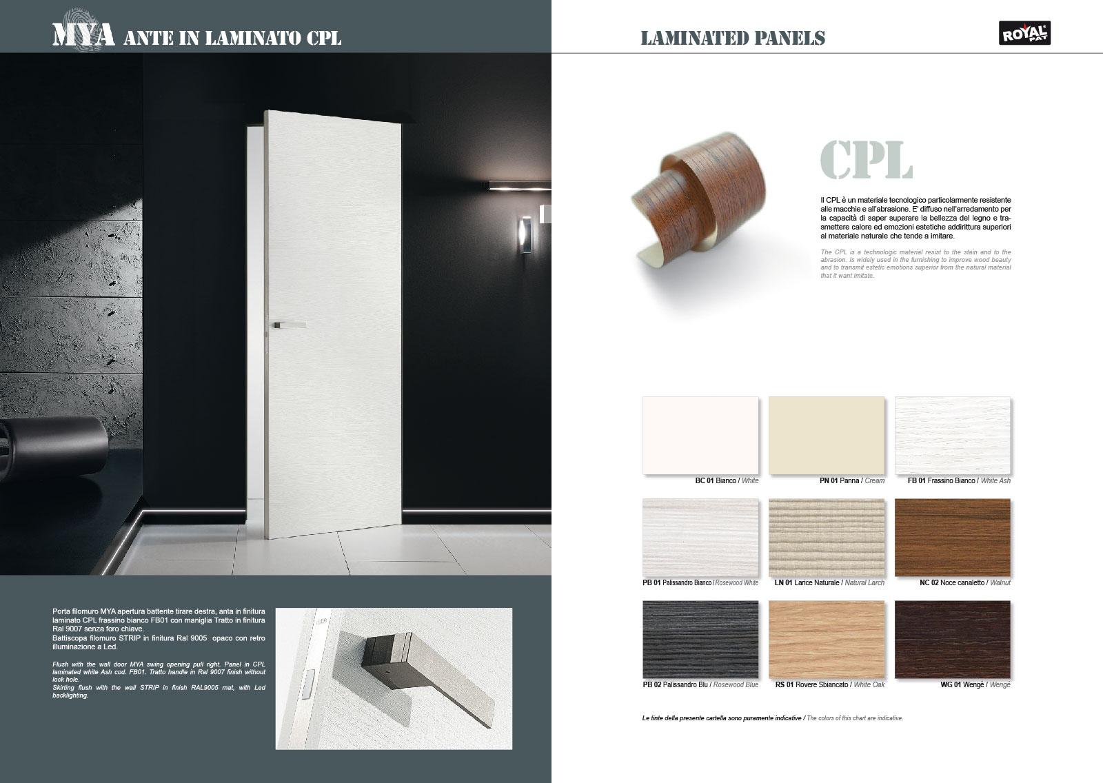 Porte In Larice Bianco.Flush Wall Doors Mya Royalpat